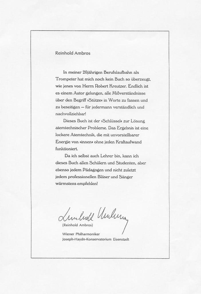 Reinhold Ambros, Wiener Philharmoniker, Prof.